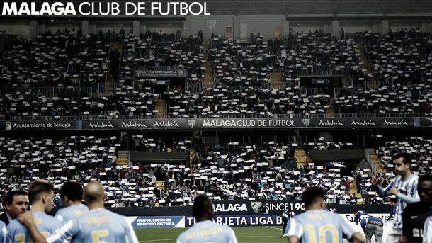 Expresiones y cánticos en el Málaga CF - Sevilla FC