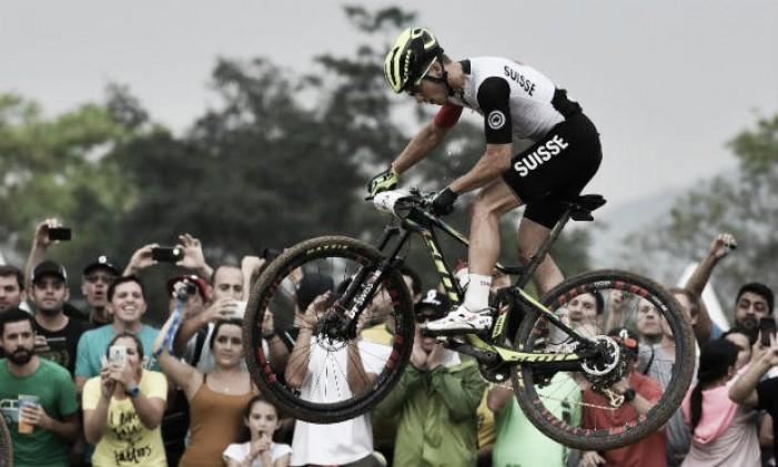 Após bronze em Pequim e prata em Londres, Nino Schurter, do ciclismo, encontra ouro no Rio