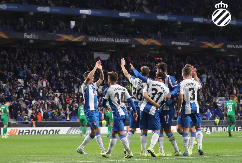 Espanyol goleia e se classifica; Ludogorets e Ferencváros brigam pela outra vaga