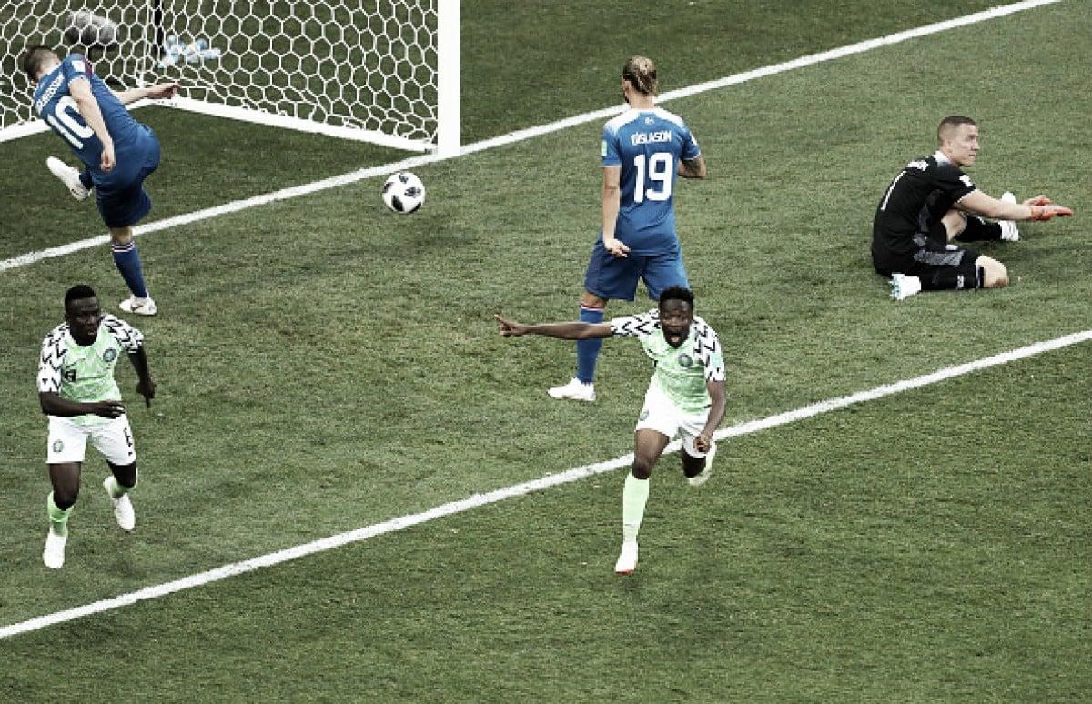 Com dois gols de Musa na segunda etapa, Nigéria vence Islândia e assume vice-liderança do Grupo D