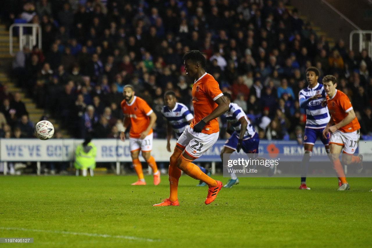 Reading 2-2 Blackpool: Tangerines battle to a well deserved replay