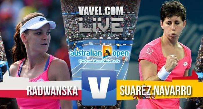 Score Agnieszka Radwanska - Carla Suarez Navarro Of The 2016 Australian Open Quarterfinals (2-0)