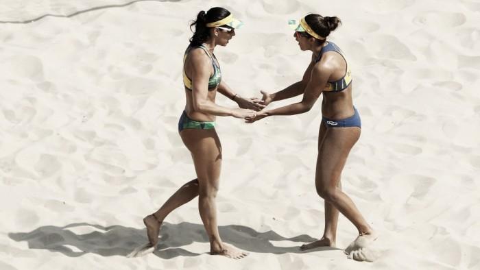 Ágatha e Bárbara não encontram dificuldades para derrotar argentinas Gallay e Klug
