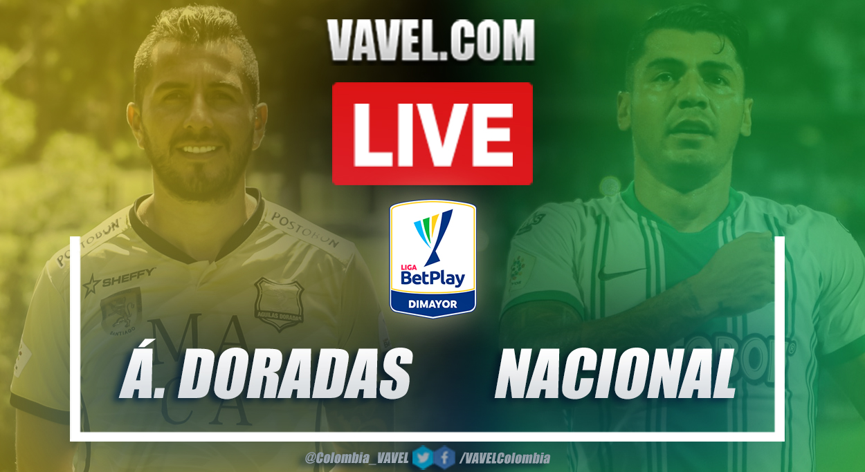 Resumen Águilas Doradas vs Nacional (1-1) en la fecha 11 por Liga BetPlay 2021-I