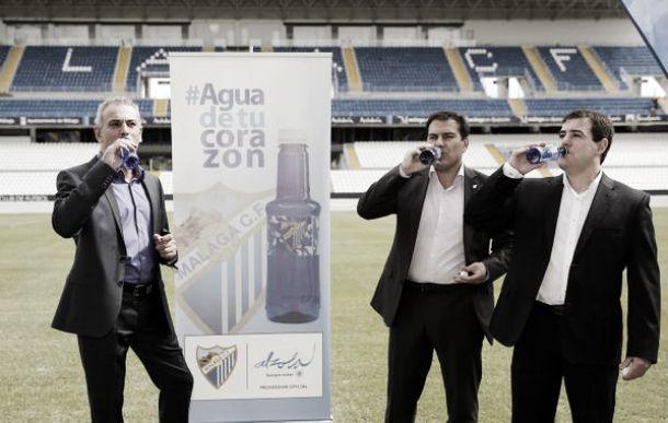 Agua mineral Alzola refrescará al Málaga CF