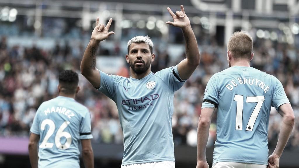 El City golea a un valiente Brighton