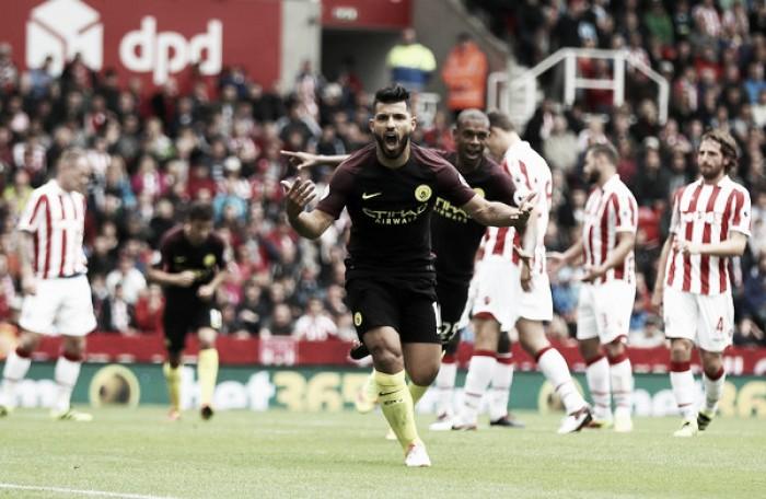 Agüero e Nolito marcam duas vezes e Manchester City bate Stoke com tranquilidade