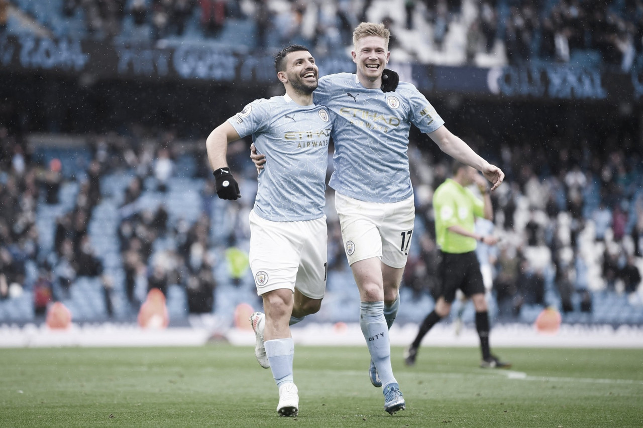 El City despide al Kun Agüerocon una goleada