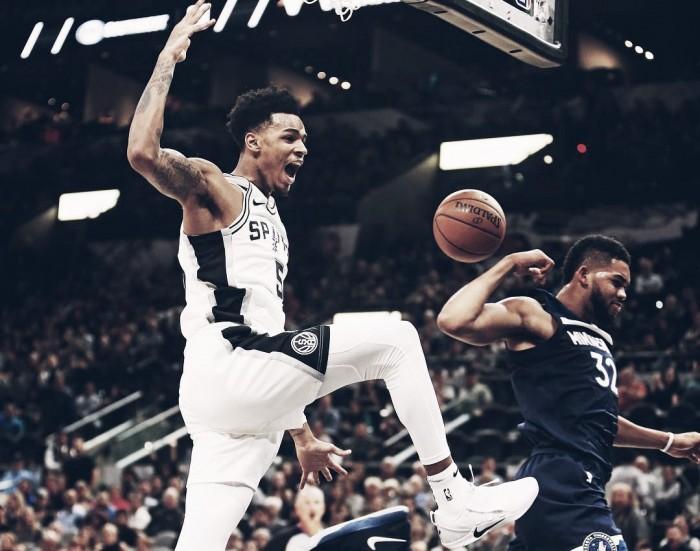 Sem Kawhi, Spurs tem boa atuação e bate Timberwolves no primeiro jogo da temporada