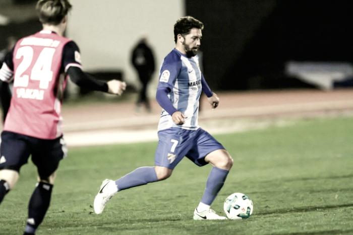 """Iturra, tras volver a jugar con el Málaga: """"Me sirve de mucho para ir cogiendo forma"""""""