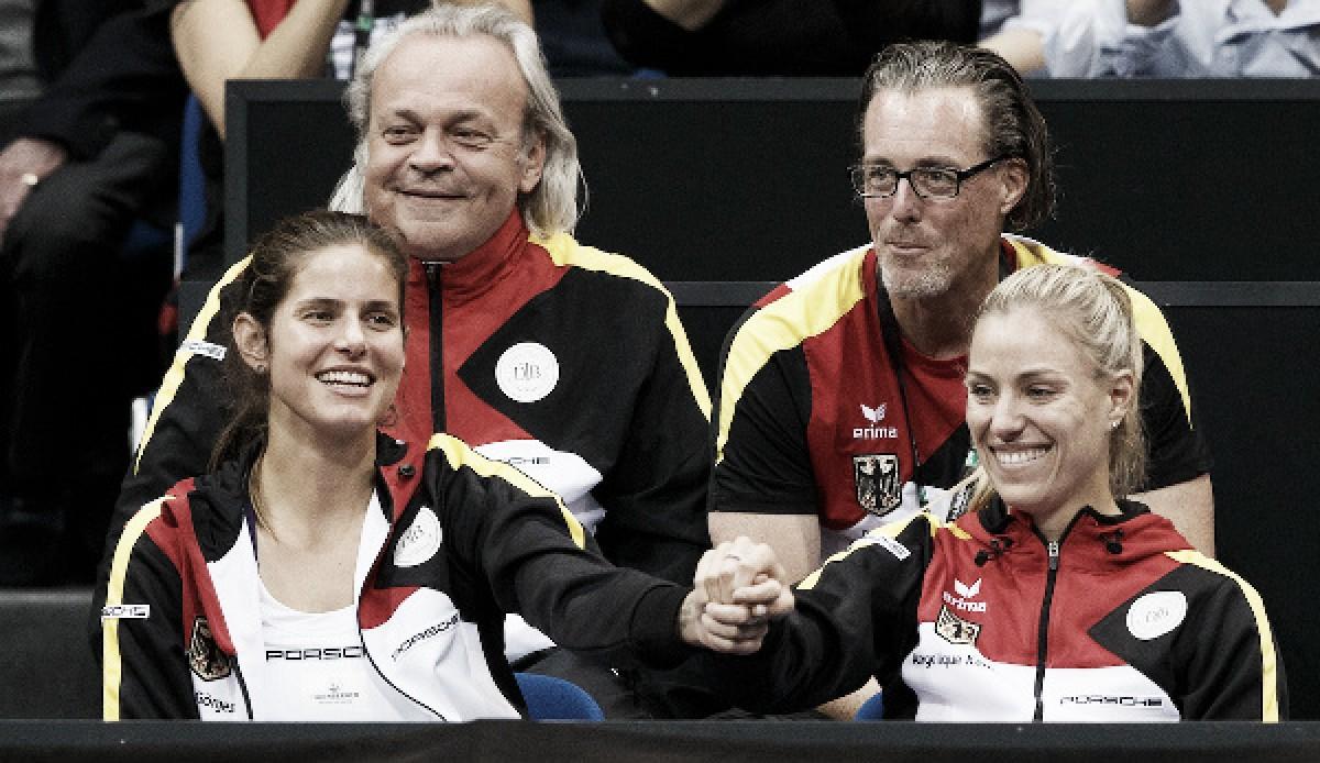 Kerber y Goerges hacen historia en Wimbledon