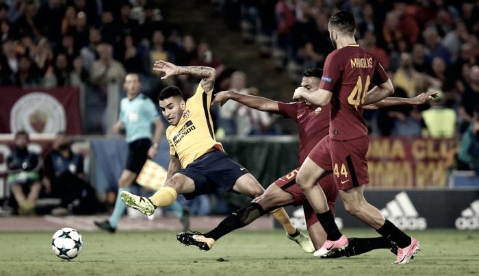 """Ángel Correa: """"Hicimos un gran partido , estamos satisfechos"""""""