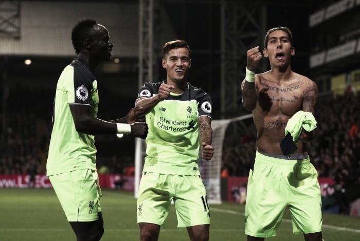 Em partida movimentada, Liverpool bate Crystal Palace fora de casa e cola na liderança