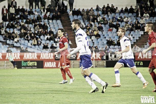 El Real Zaragoza sucumbe ante el Numancia en los últimos minutos