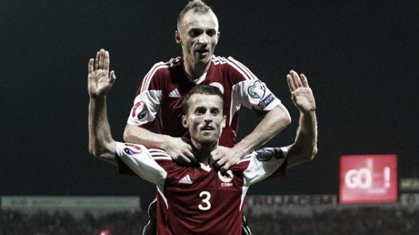 Albânia deslumbrou e quase conquistou os 3 pontos frente à Dinamarca