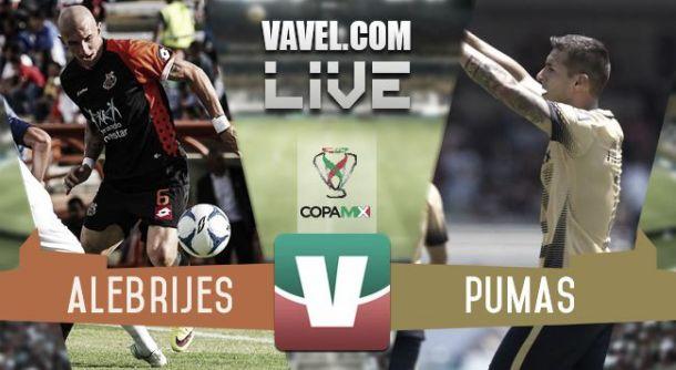Resultado Alebrijes de Oaxaca - Pumas UNAM en Copa MX 2015 (1-1)