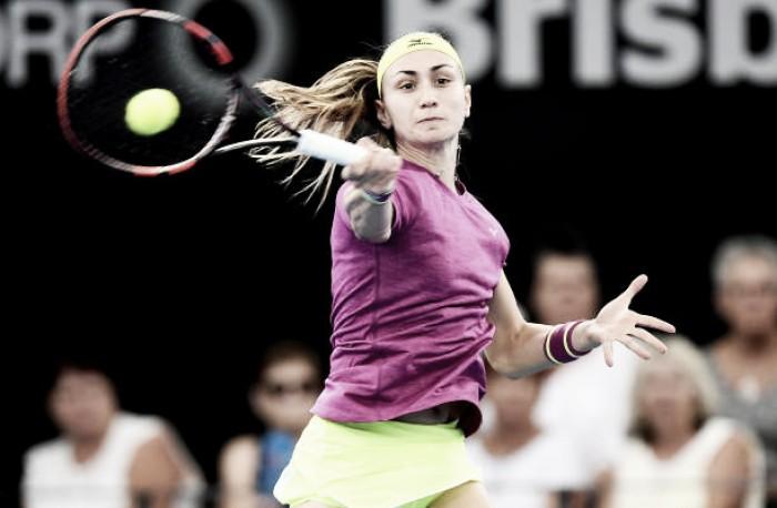 WTA Brisbane: Aleksandra Krunic sneaks past ailing Muguruza