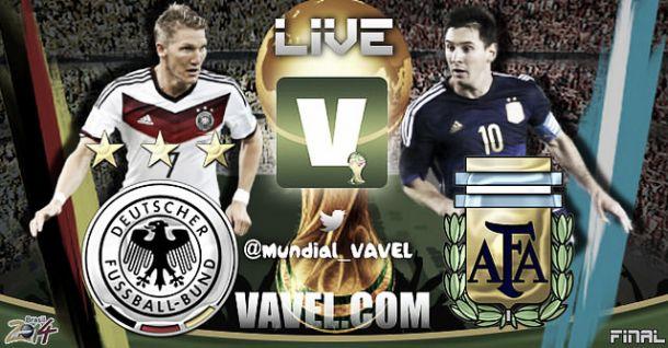 Final Mundial Brasil 2014: Alemania vs Argentina en vivo y en directo