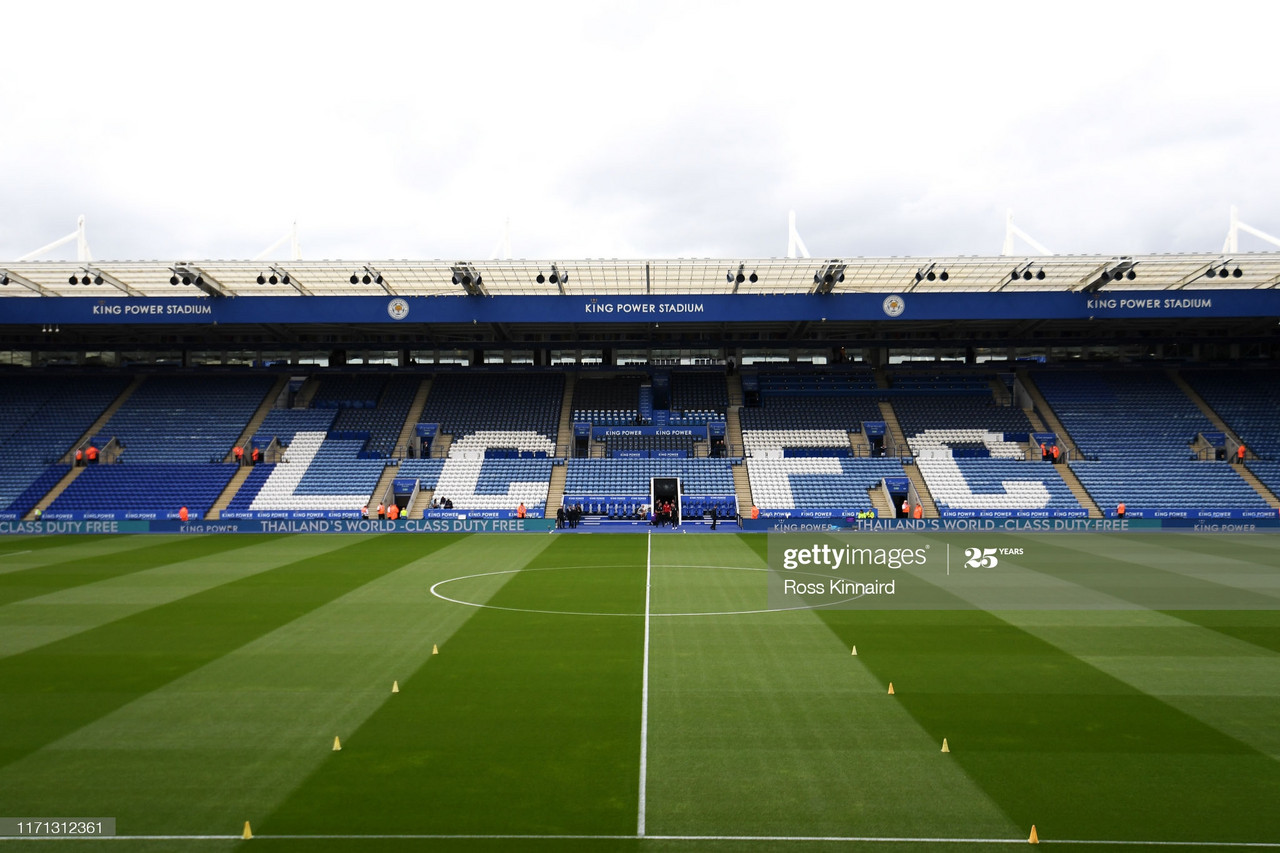 The King Power Stadium is set to host European football for just the second time | Photo: Getty/ Ross Kinnaird