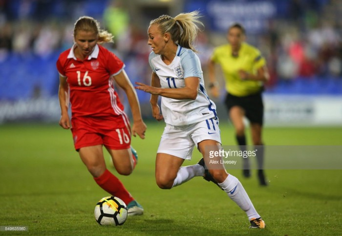 England striker Toni Duggan adapting to life well in Spain with Blaugranes