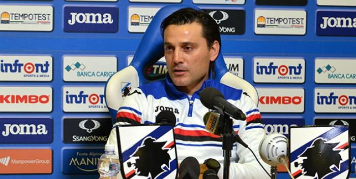 """Samp, Montella ai microfoni: """"Juve favorita ma non siamo battuti"""""""