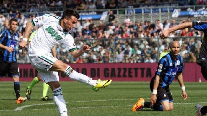 FINALE Atalanta Vs Sassuolo in Serie A 2015/16, 1-1 Berardi-gol, pari di Denis