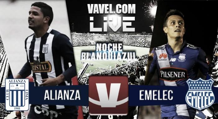 Resultado Alianza Lima - Emelec en la Noche Blanquiazul 2016 (3-2)