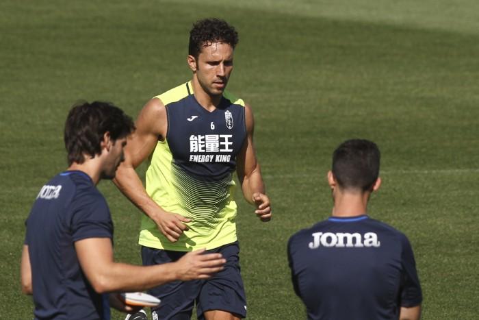 Germán, al margen en un entrenamiento sin Peña ni Ramos