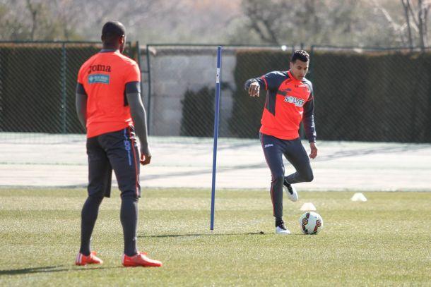 Rubén Pérez y Murillo entrenan con el grupo