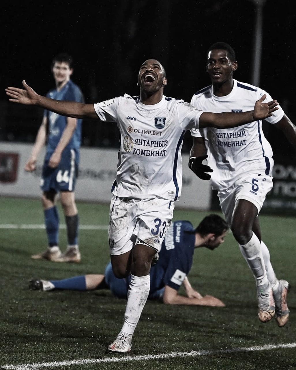 Na Rússia, atacante Allef Andrade comemora gol e mira acesso para Premier League