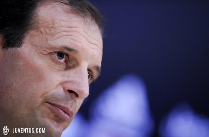 """Juve, parla Allegri: """"Roma ancora in corsa, deve essere una bella partita dentro e fuori dal campo"""""""