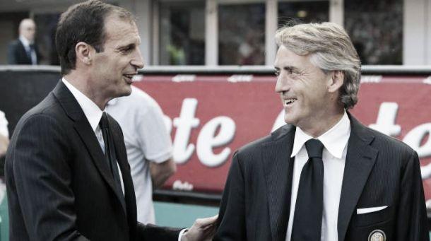Verso Inter - Juve: dubbio in attacco per Allegri, Mancini rinuncia a Kondogbia?