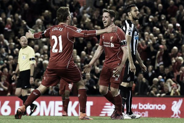 Liverpool 2 0 newcastle united sterling and allen help reds close gap
