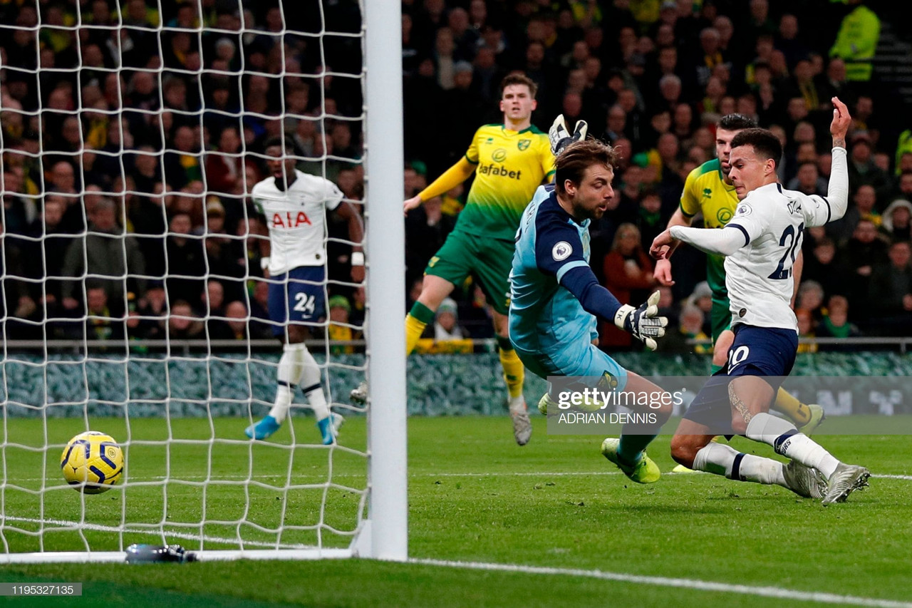 Spurs 2-1 Norwich City: Home side limp to a vital victory, Dele Alli at the heart of both goals