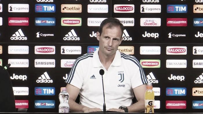 """Juve, si riparte dal Cagliari. Allegri scaccia la presunzione: """"Favoriti se ci mettiamo al pari degli altri"""""""