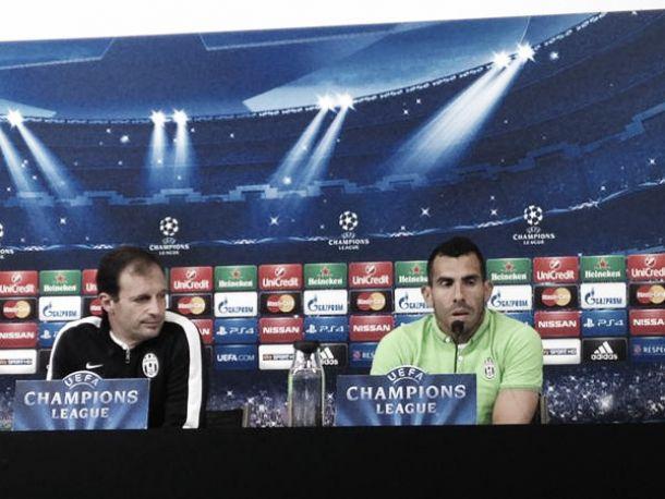 Juve - Real, le parole di Allegri e Tevez in conferenza stampa