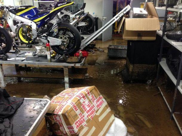 Alluvione danneggia la sede del Team Tech 3