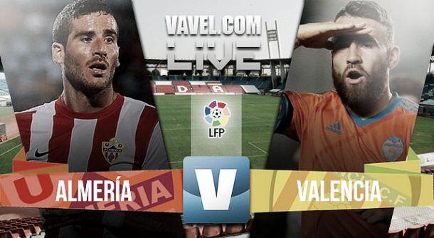 Resultado Almería vs Valencia en la Liga BBVA 2015 (2-3)