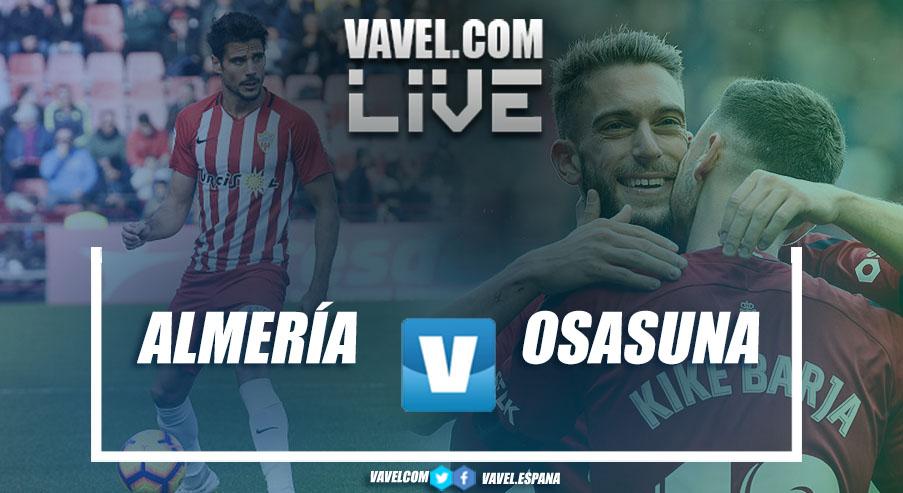 Resumen Almería - Osasuna en LaLiga 1|2|3 2018 (0-1)