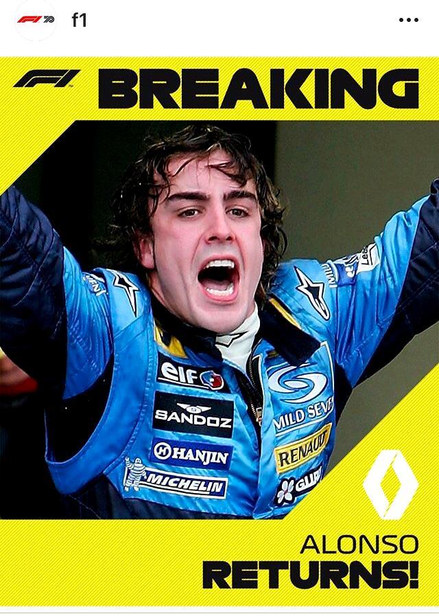 Alonso Kembali ke F1 Bersama Tim Renault