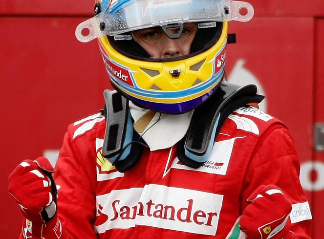 Alonso consigue la pole en el diluvio de Hockenheim