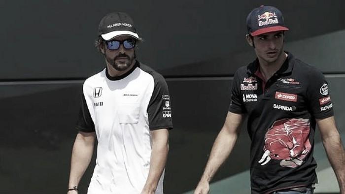 Sainz ve en Alonso un buen modelo a seguir