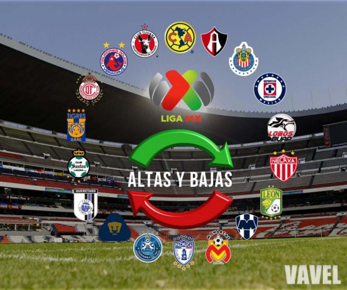 Altas y bajas oficiales de la Liga MX para el Apertura 2018