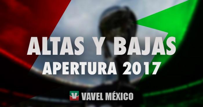 Altas y bajas oficiales de la Liga Bancomer MX para el Apertura 2017