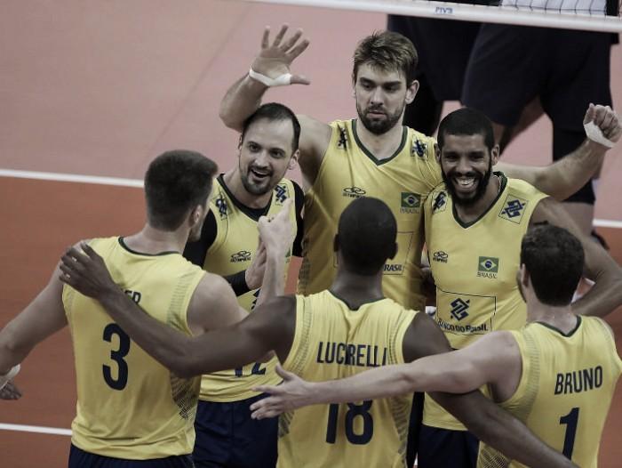 Brasil se recupera de derrota para Sérvia e bate Irã na Liga Mundial de Vôlei