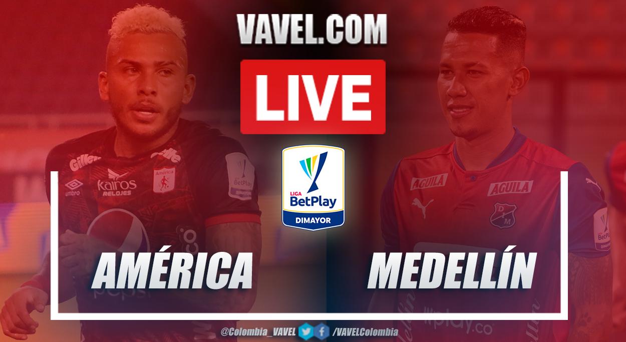 Resumen América vs Medellín (1-2) en la fecha 14 por Liga BetPlay 2021-I