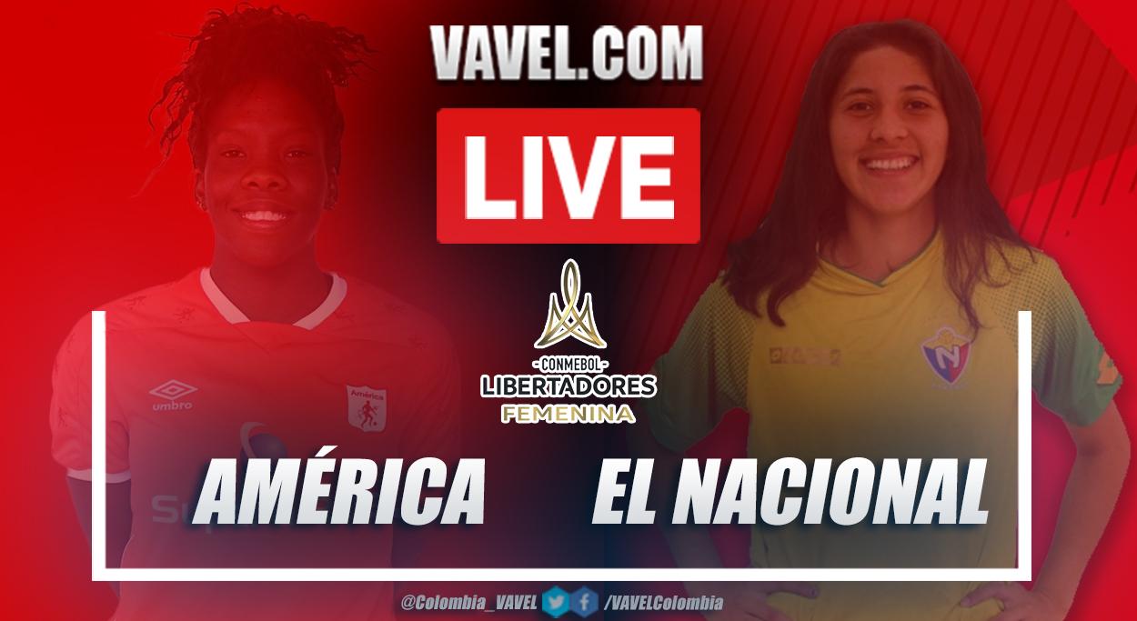 Resumen El Nacional vs América (1-5) en la fecha 2 por Copa Libertadores Femenina 2020