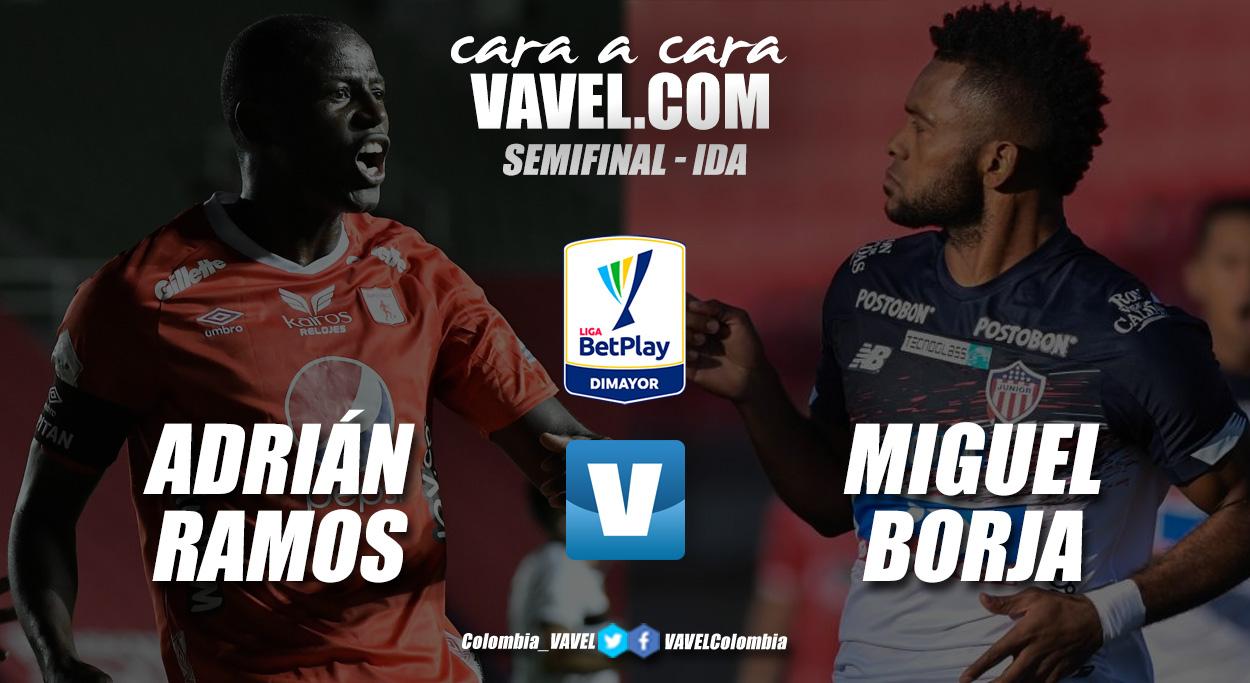 Cara a cara: Adrián Ramos vs Miguel Ángel Borja