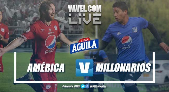 Resumen América vs Millonarios por la Liga Aguila 2019-I (1-2)