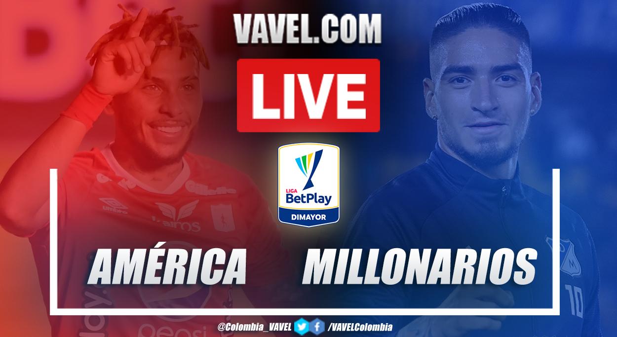 Resumen América vs Millonarios (0-2) por Liga BetPlay